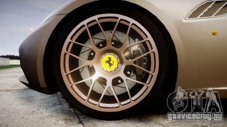 Ferrari California [EPM] для GTA 4 вид сзади