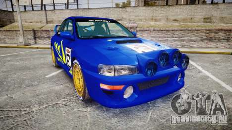 Subaru Impreza WRC 1998 Rally v3.0 Yellow для GTA 4