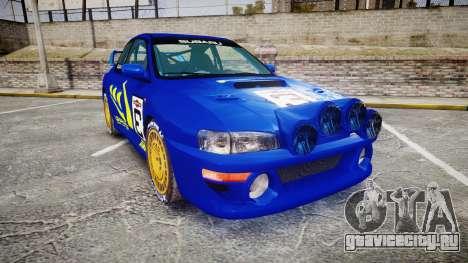 Subaru Impreza WRC 1998 Rally v3.0 Yellow для GTA 4