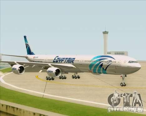 Airbus A340-600 EgyptAir для GTA San Andreas вид изнутри