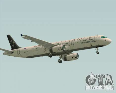 Airbus A321-200 Air New Zealand (Star Alliance) для GTA San Andreas вид сзади