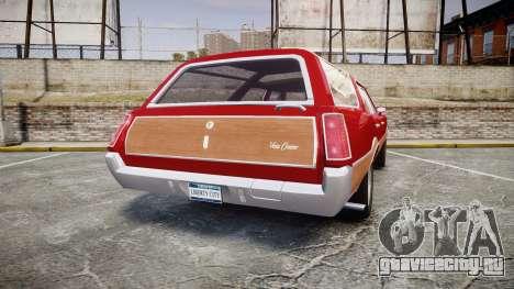 Oldsmobile Vista Cruiser 1972 Rims1 Tree2 для GTA 4 вид сзади слева