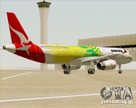 Airbus A321-200 Qantas (Socceroos Livery) для GTA San Andreas колёса