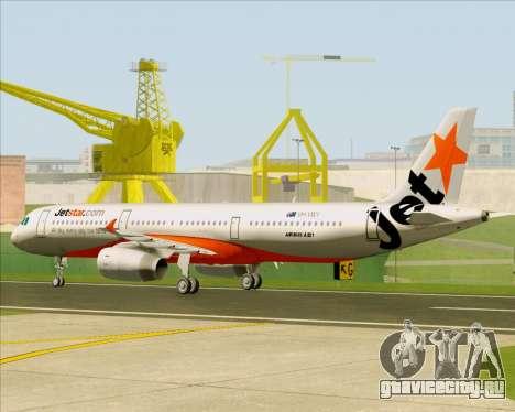 Airbus A321-200 Jetstar Airways для GTA San Andreas вид сзади