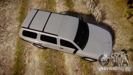 Dodge Durango 2000 Undercover [ELS] для GTA 4 вид справа