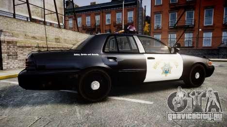 Ford Crown Victoria CHP CVPI Vision [ELS] для GTA 4 вид слева