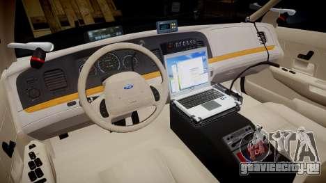 Ford Crown Victoria CHP CVPI Slicktop [ELS] для GTA 4 вид сзади