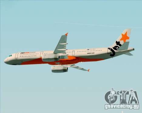 Airbus A321-200 Jetstar Airways для GTA San Andreas колёса
