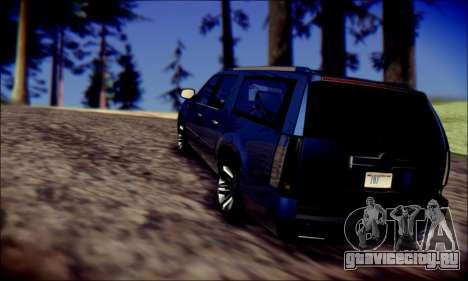 Cadillac Escalade Ninja для GTA San Andreas вид сбоку