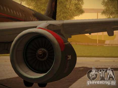 Airbus A321-232 Royal Jordanian Airlines для GTA San Andreas колёса