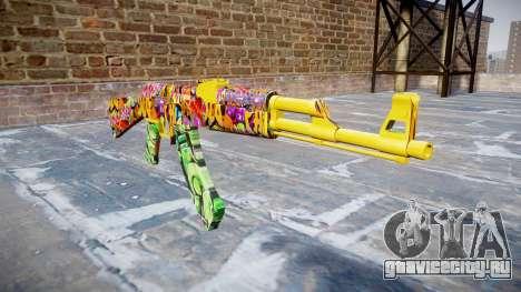 АК-47 graffiti camo для GTA 4