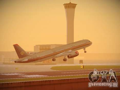 Airbus A321-232 Royal Jordanian Airlines для GTA San Andreas салон