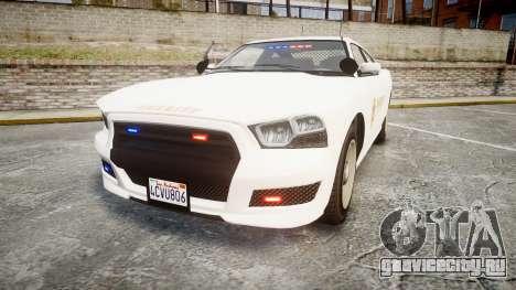 GTA V Bravado Buffalo LS Sheriff White [ELS] Sli для GTA 4