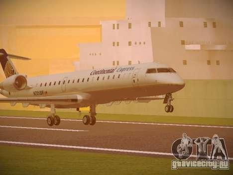 Bombardier CRJ-700 Continental Express для GTA San Andreas вид слева