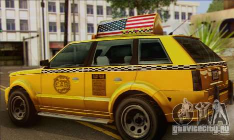 VAPID Huntley Taxi (Saints Row 4 Style) для GTA San Andreas вид слева