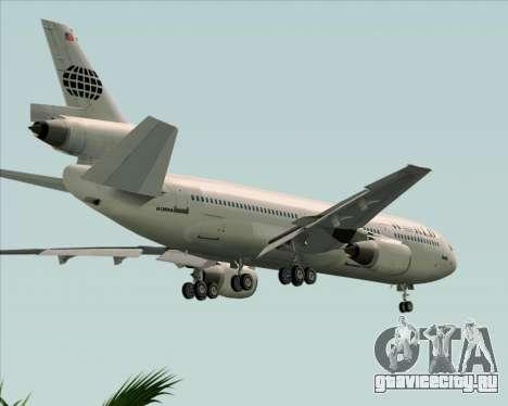 McDonnell Douglas DC-10-30 World Airways для GTA San Andreas вид сверху