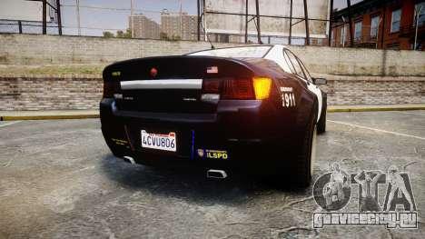GTA V Cheval Fugitive LS Police [ELS] Slicktop для GTA 4 вид сзади слева