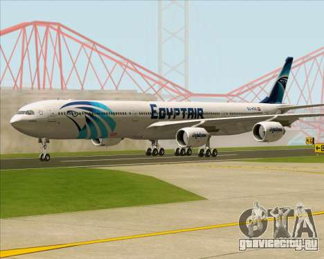 Airbus A340-600 EgyptAir для GTA San Andreas вид сзади слева