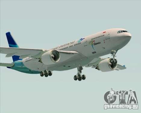 Airbus A330-243 Garuda Indonesia для GTA San Andreas салон