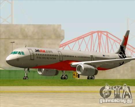 Airbus A321-200 Jetstar Airways для GTA San Andreas вид сверху