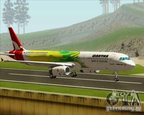 Airbus A321-200 Qantas (Socceroos Livery) для GTA San Andreas вид слева
