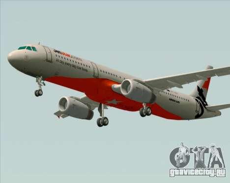 Airbus A321-200 Jetstar Airways для GTA San Andreas вид изнутри