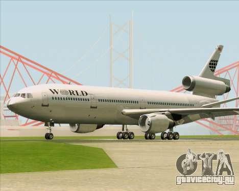 McDonnell Douglas DC-10-30 World Airways для GTA San Andreas вид сзади