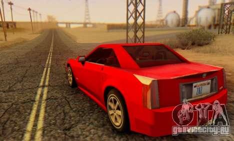 Cadillac XLR для GTA San Andreas вид слева