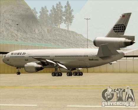 McDonnell Douglas DC-10-30 World Airways для GTA San Andreas двигатель