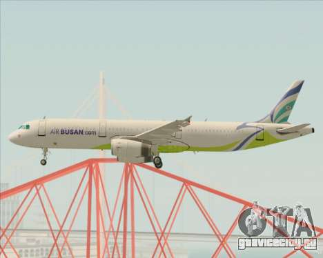 Airbus A321-200 Air Busan для GTA San Andreas вид изнутри