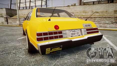 Albany Romans Taxi для GTA 4 вид сзади слева