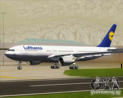 Airbus A330-200 Lufthansa для GTA San Andreas вид сверху