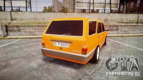 Tofas Kartal SLX Taxi для GTA 4 вид сзади слева