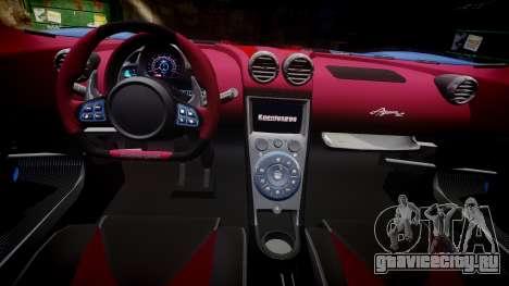 Koenigsegg Agera R 2013 [EPM] v1.5 Low Quality для GTA 4 вид сзади