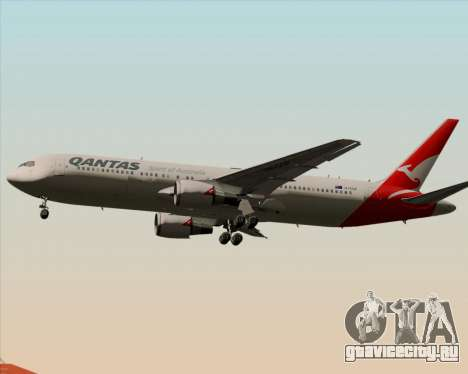 Boeing 767-300ER Qantas (New Colors) для GTA San Andreas вид сзади