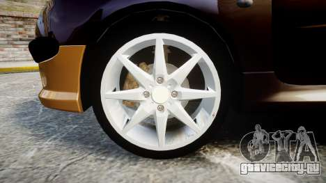 Peugeot 206 XS 1999 для GTA 4 вид сзади