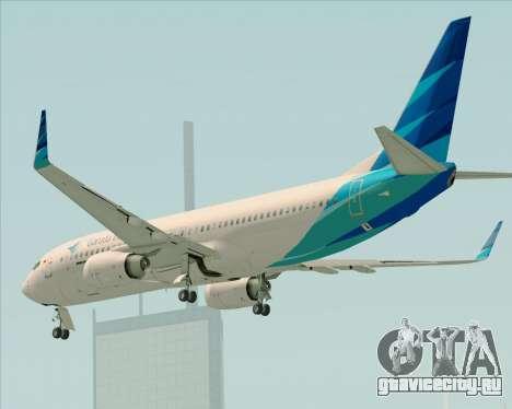 Boeing 737-800 Garuda Indonesia для GTA San Andreas вид снизу