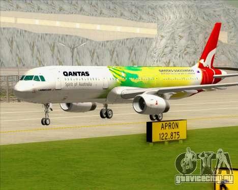 Airbus A321-200 Qantas (Socceroos Livery) для GTA San Andreas вид сверху