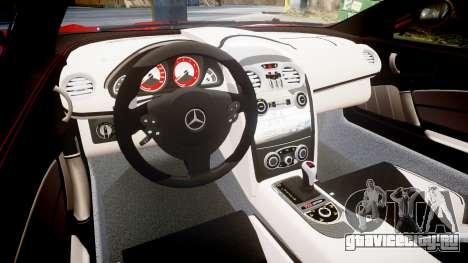 Mercedes-Benz SLR 722 2005 для GTA 4 вид изнутри