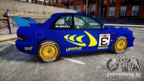 Subaru Impreza WRC 1998 Rally v3.0 Yellow для GTA 4 вид слева