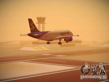 Airbus A319-132 Spirit Airlines для GTA San Andreas двигатель