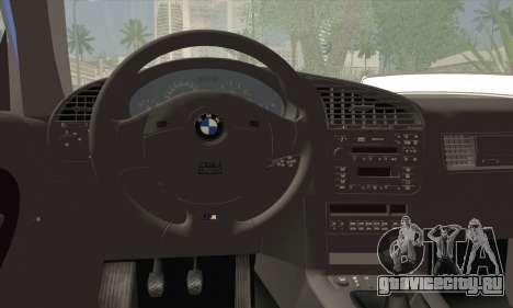 BMW M3 E36 Cabrio для GTA San Andreas вид сзади слева