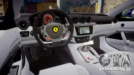 Ferrari FF 2012 Pininfarina Blue для GTA 4 вид изнутри