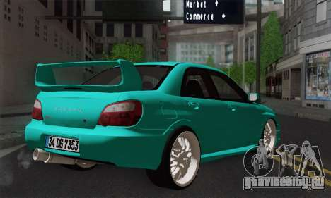 Subaru Impreza RC для GTA San Andreas вид слева