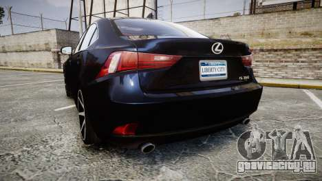 Lexus IS 350 F-Sport 2014 Rims2 для GTA 4 вид сзади слева