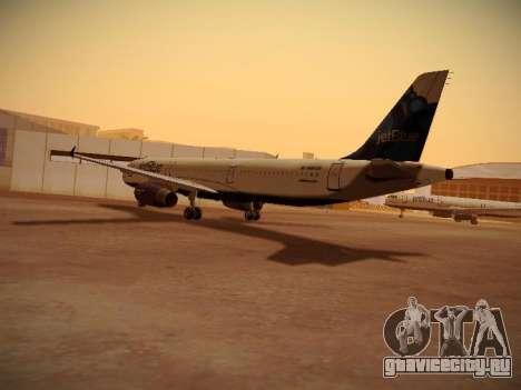 Airbus A321-232 jetBlue La vie en Blue для GTA San Andreas вид сзади слева