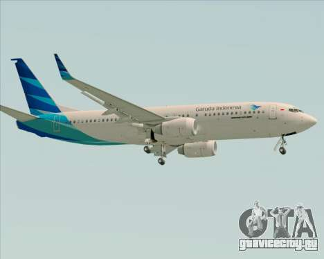 Boeing 737-800 Garuda Indonesia для GTA San Andreas вид сзади слева