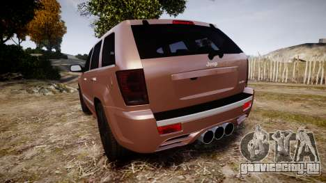Jeep Grand Cherokee SRT8 rim lights для GTA 4 вид сзади слева