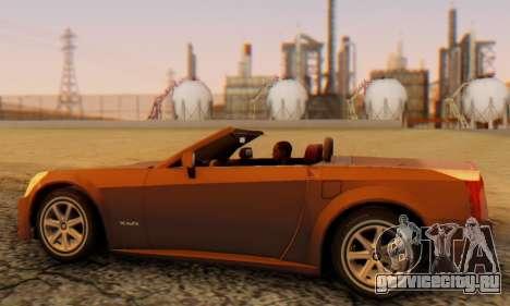 Cadillac XLR для GTA San Andreas вид сзади слева