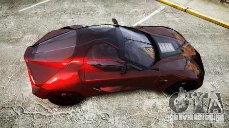 Bertone Mantide 2009 для GTA 4 вид справа